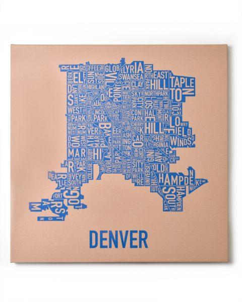 Denver Tan/Blue Canvas, Front