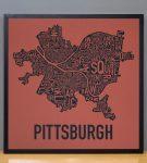 "Pittsburgh 18"" x 18"" Whiskey Rebellion Print in Black Frame"