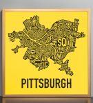 "Pittsburgh 18"" x 18"" Steelers Print in Bronze Frame"