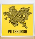 "Pittsburgh 18"" x 18"" Steelers Print in Silver Frame"