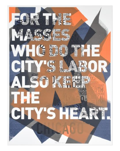 Chicago City Neighborhood Map Ork Posters Screen Print