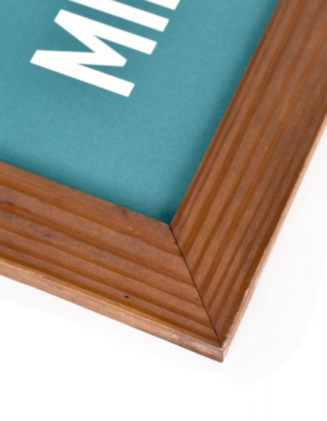 Handmade Salvaged Wood Frame Corner