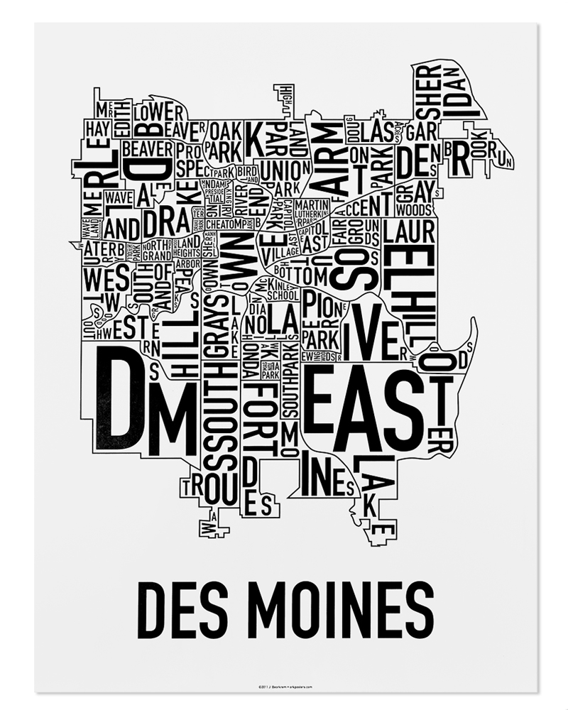 Des Moines Neighborhood Map 18\