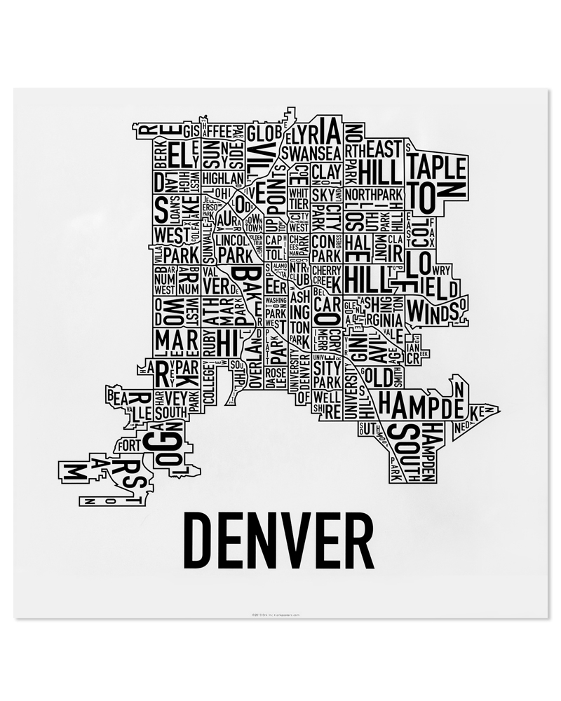 Denver Neighborhood Map 18