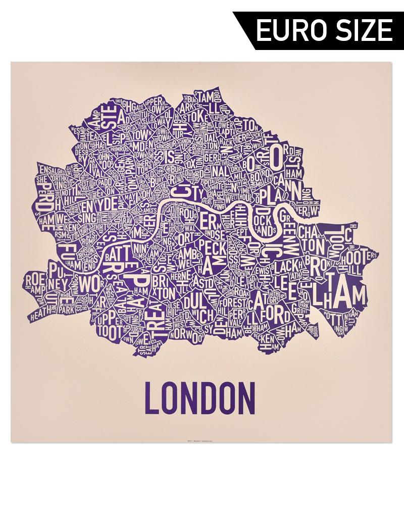Neighborhood Map London.London Neighbourhood Map 60cm X 60cm Royal Treatment Poster