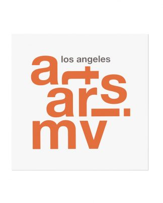 "Mar Vista Fun With Type Mini Print, 8"" x 8"", White & Orange"