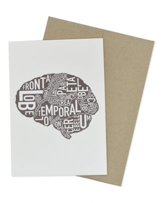 Brain Greeting Card