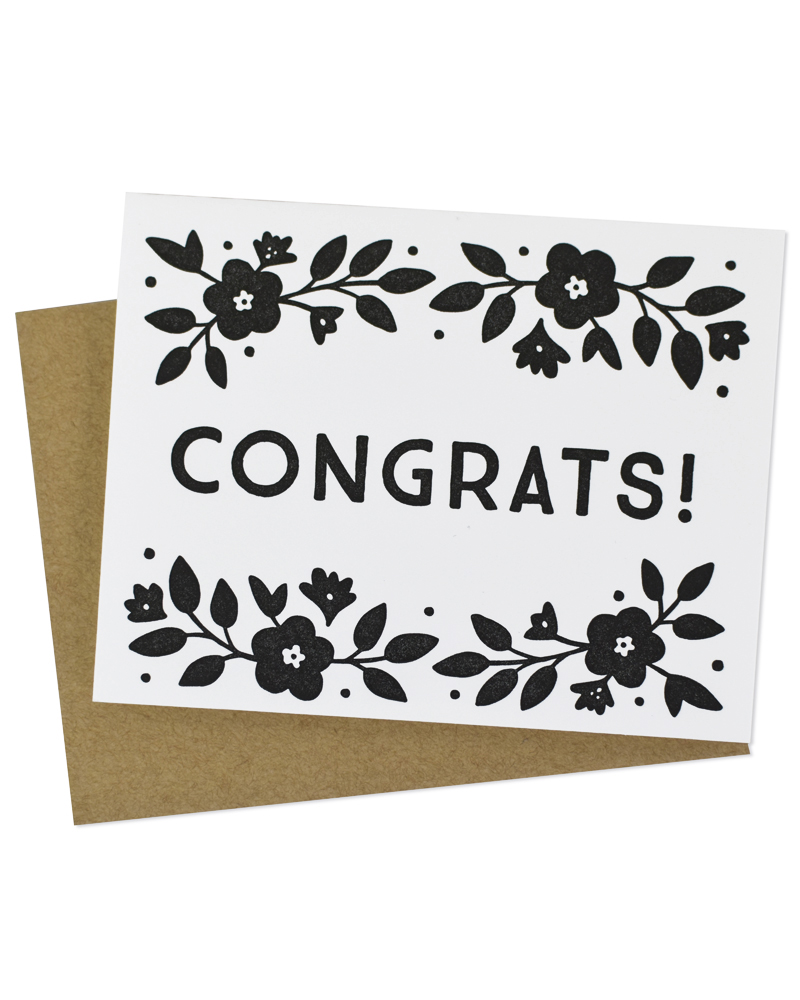 Floral Congrats Greeting Card By Hello Paper Co