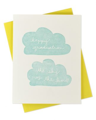 The Sky's the Limit Graduation Greeting Card by Iron Curtain Press