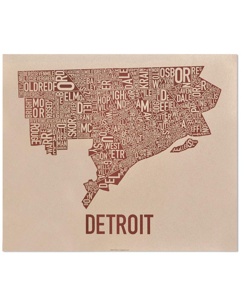Detroit Neighborhood Map 24