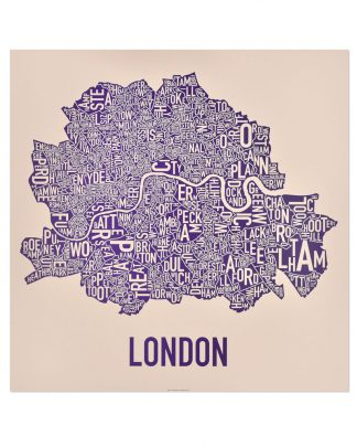Map Of London With Neighborhoods.London Neighbourhood Map Posters Prints By Ork Posters