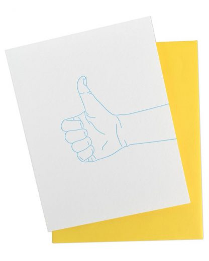Thumbs Up Congrats Greeting Card by McBitterson's