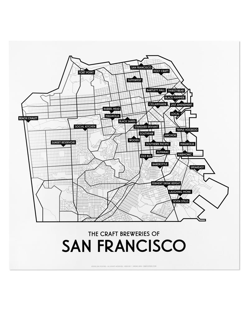 San Francisco 2018 Craft Brewery Map 12