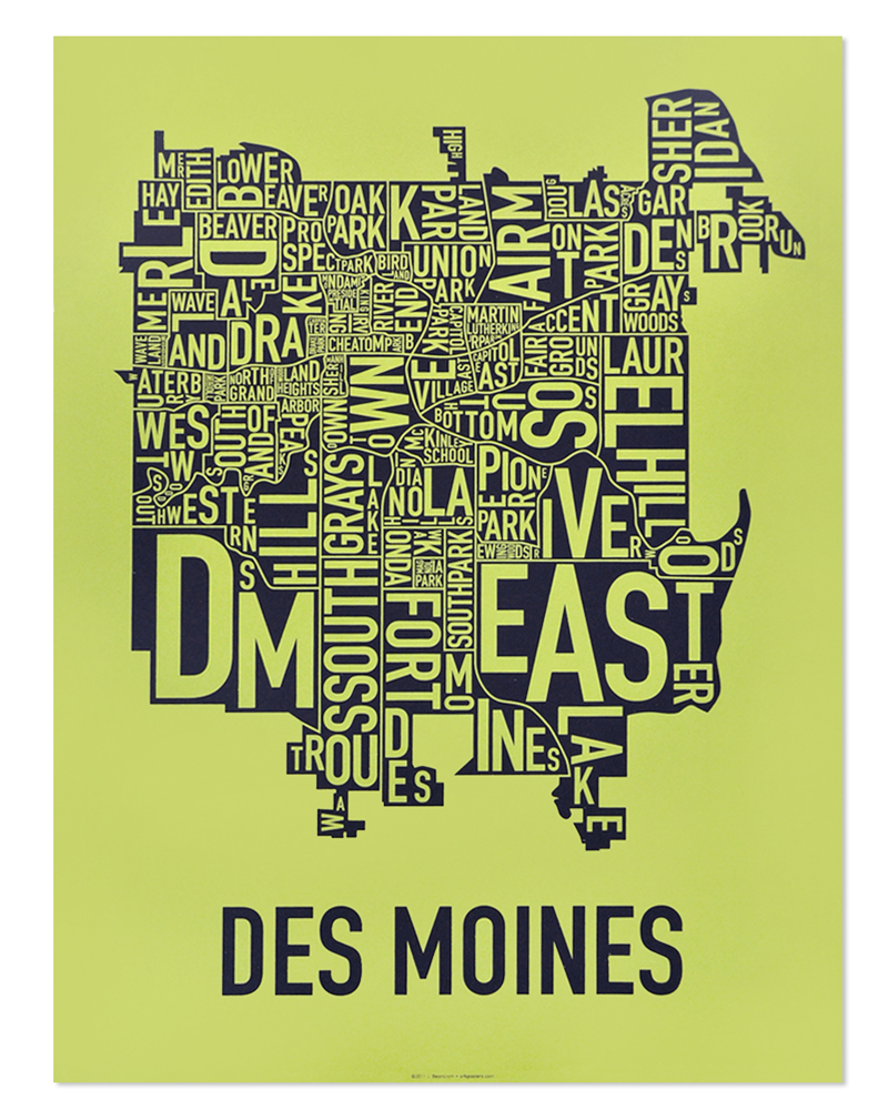 Des Moines Neighborhood Map 18