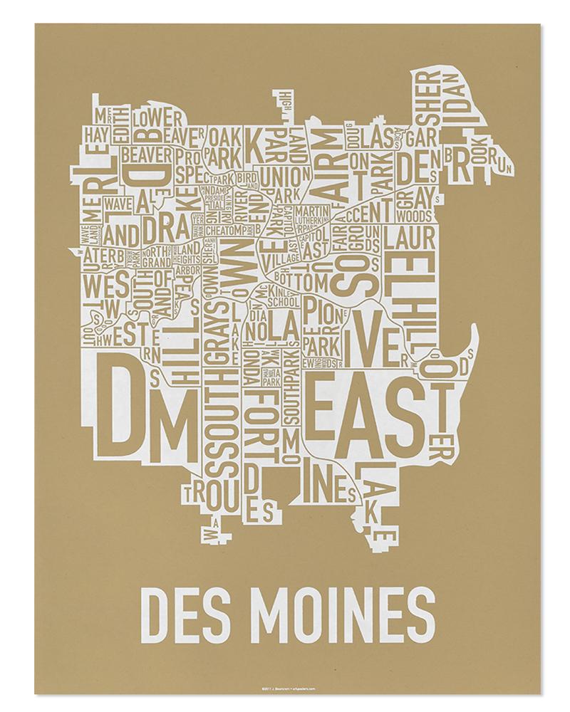 Des Moines Neighborhood Map 18