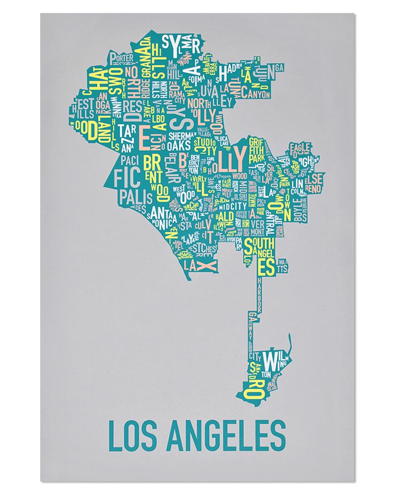 on map of los angeles neighborhoods