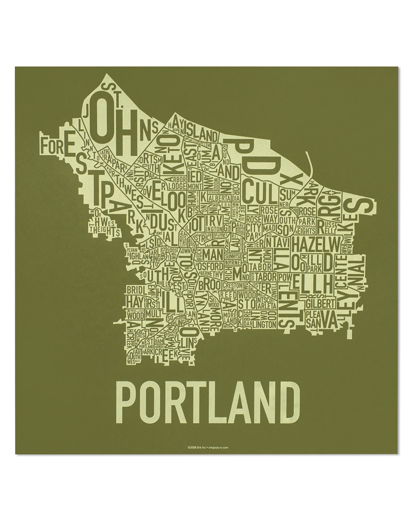 Portland Neighborhood Map 18