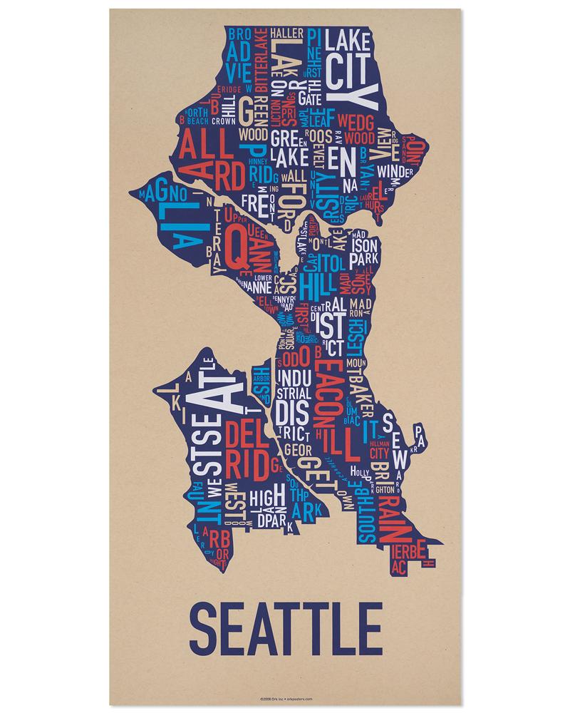 Seattle Neighborhood Map 13