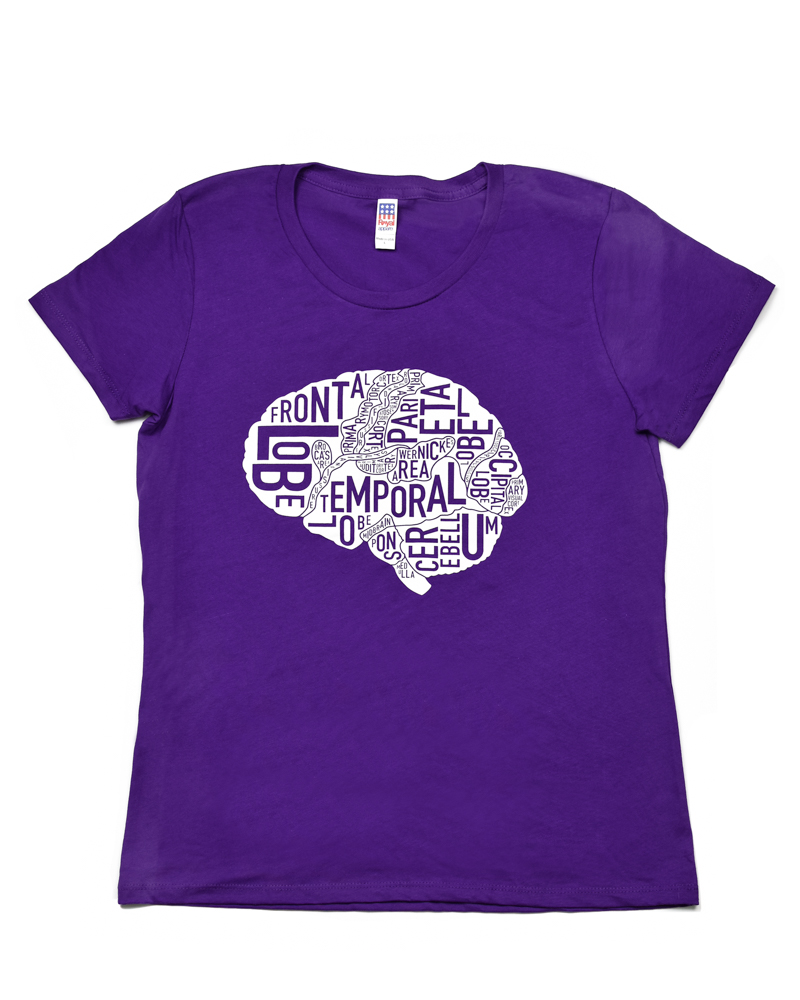 Brain Typographic Anatomy Women\'s T-Shirt