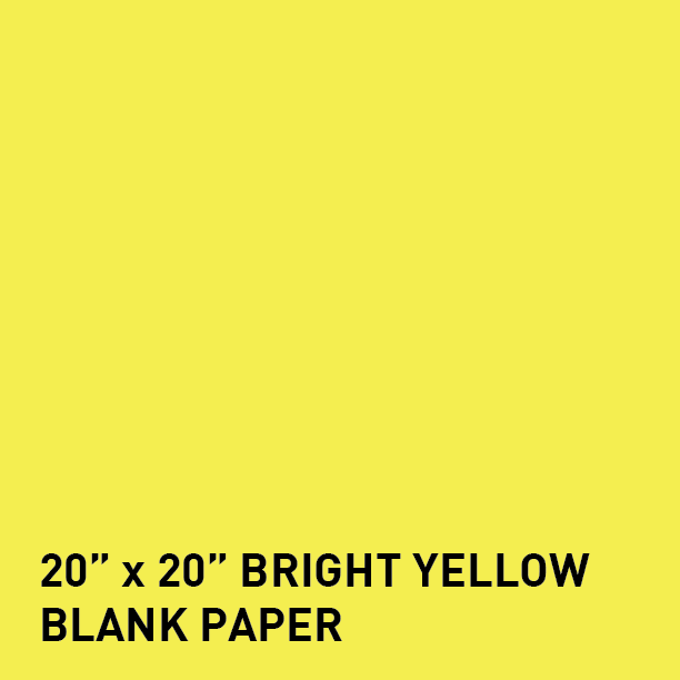 bright yellow 20 x 20 65 cover blank poster paper pack of 25 sheets