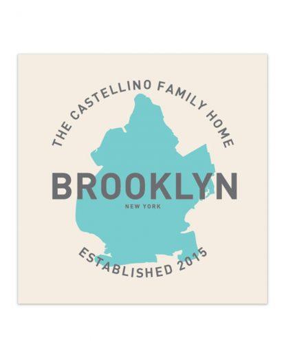 "Customizable Brooklyn Family Home Print, 8"" x 8"""