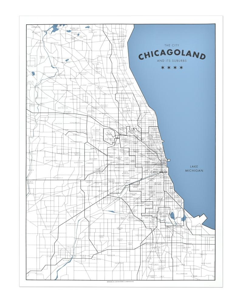 graphic relating to Printable Maps of Chicago identified as Chicagoland - a Map of Chicago and its Suburbs 18\