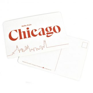 Hello From Chicago Postcards, pack of 8