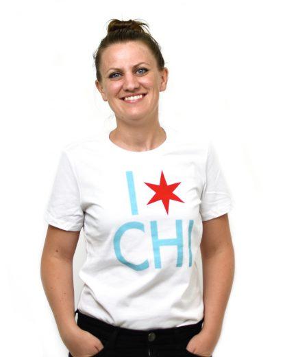 I Star Chi T-Shirt, Women's White