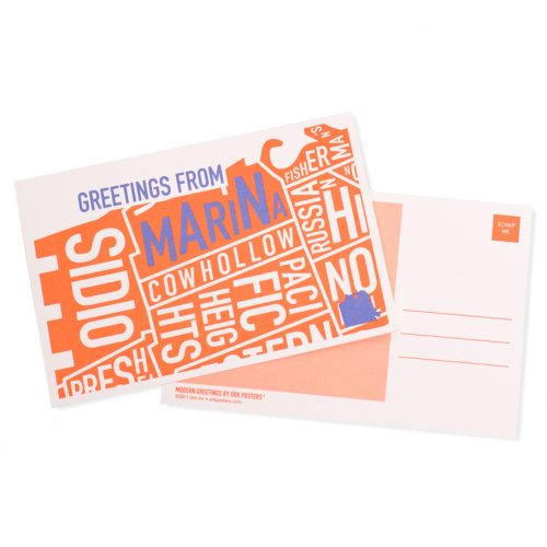 Greetings from San Francisco Neighborhood Postcards, Pack of 8