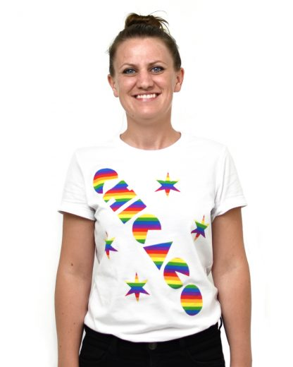 Chicago Pride Rainbow Women's Cut T-shirt, White