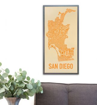 San Diego Neighborhood Map Artwork