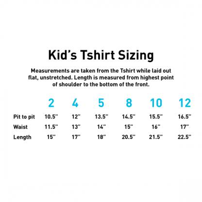 Kids T-Shirt Size Chart
