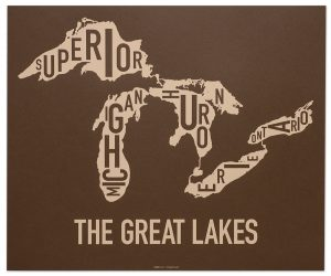 "Great Lakes ""Down Under Brown"" Screen Print"
