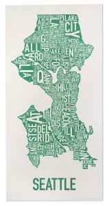 """Seattle """"Emerald City Green"""" Poster"""