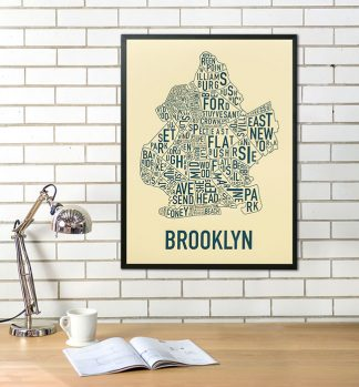 Brooklyn Neighborhood Map Poster