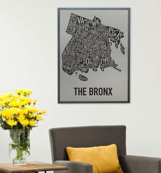 Bronx Neighborhood Map Art