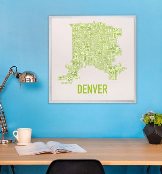 Denver Type Map Art