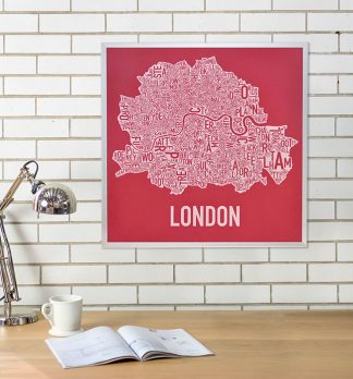 London Neighbourhoods Map Poster