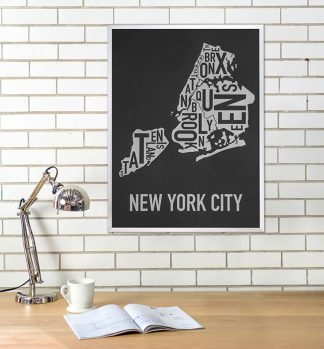 New York City Boroughs Type Map