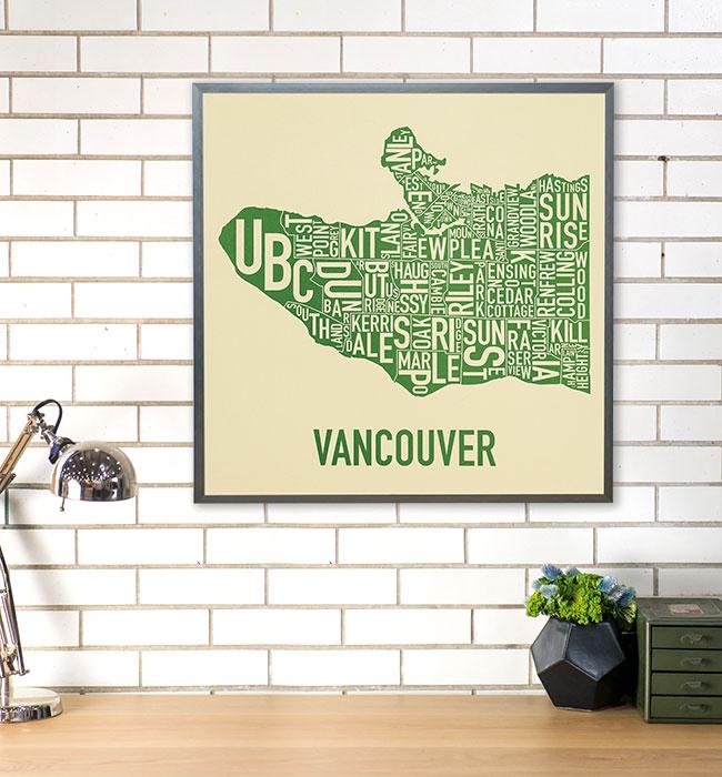 Vancouver Neighborhood Map Posters & Screen Prints