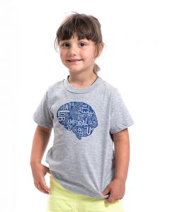 Brain Kid's Tee in Grey Heather