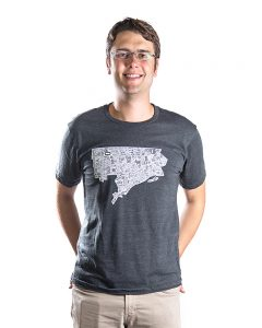 Detroit Men's Tee in Grey
