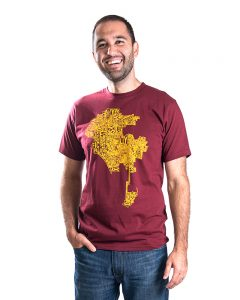 LA Men's Tee in Maroon