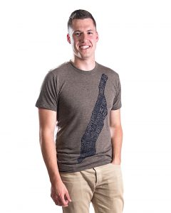 Manhattan Men's Tee in Brown Heather