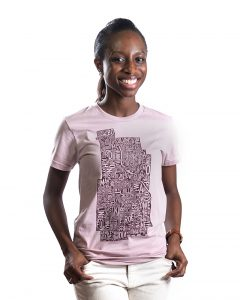 Minneapolis Women's Tee in Mauve
