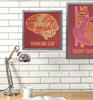 Brain Anatomy Typographic Artwork