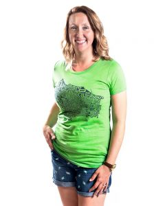 Portland Women's Tee in Green