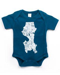 Seattle Baby Onesie in Blue