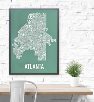 Atlanta Neighborhood Map Poster