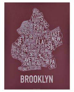 Brooklyn Maroon & Grey Print